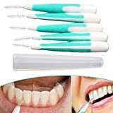 5 Medium Dental Toothpick Plastic Inter dental Soft Hygiene Tooth Brush Head Inter dental