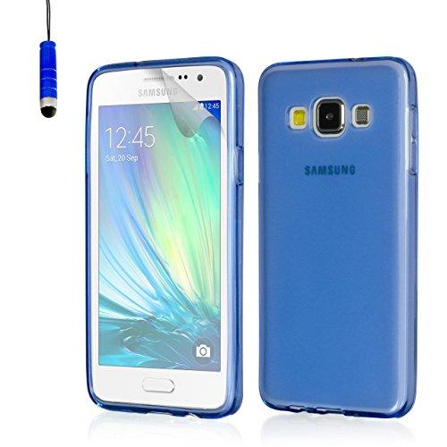 32nd® Hülle Kristall Blau Ultradünn Silikon Gel Schutzhülle für Samsung Galaxy J1 SM-J100 - Blau