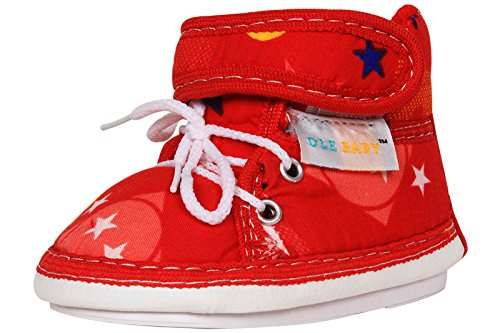 Ole Baby Velcro with Lace Whistle Musical Outdoor First Walking Shoes 0-12 Months  available at amazon for Rs.199