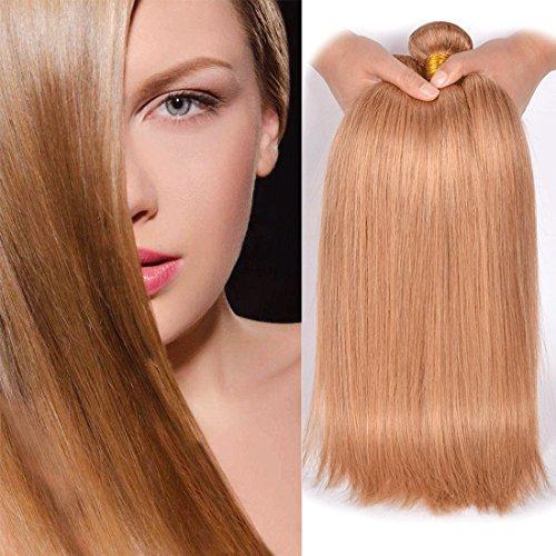 Dai Weier 1 Bundles Blond Brazilian Hair #27 Honey Gold Straight Remy Echthaar Extensions Weaves 100g Tressen On Prime Cheap 18 Inch (Weben Seidig Menschliche)