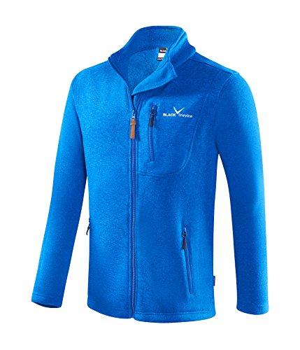 Black Embout Crevice Veste Polaire pour Homme, Bleu, XL