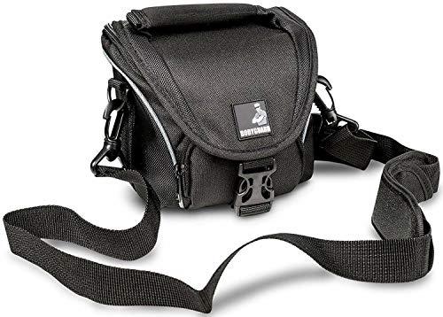 BODYGUARD DSLM Foto/Kamera Tasche System L mit Regenschutz, Tragegurt und Zubehörfächern, schwarz - passend für Bridgekamera oder Systemkamera