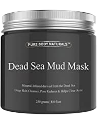 Pure Body Naturals The Best Dead Sea Mud Mask, 250G/ 8.8 Fl. Oz. - Dead Sea Mud Mask Best For Facial Treatment, Minimizes Pores, Reduces Wrinkles, And
