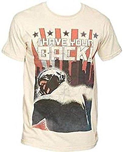 Batman - Yo tienen su Espalda (Bane) - Camiseta Oficial Hombre - Crema, Small