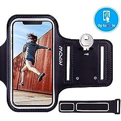 """Mpow Brassard iPhone 6/ 6s 4,7"""" Sports Sweatproof Etui Armband Case pour le Jogging/ Gym/ Sport, Confortable avec sangle réglable ,Noir"""