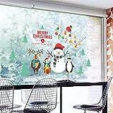jieGREAT jieGREAT❄ Weihnachten Wandaufkleber❄Wasserdicht und Abnehmbar Weihnachtsaufkleber Schneeflocke Weihnachtsbaum Rentier Wandaufkleber Home DIY Dekorativ