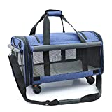 Xinyuanjiafang Pet Multifunction Rolling Luggage Spinner Shoulders backpack Trolley Travel Bag Carry On