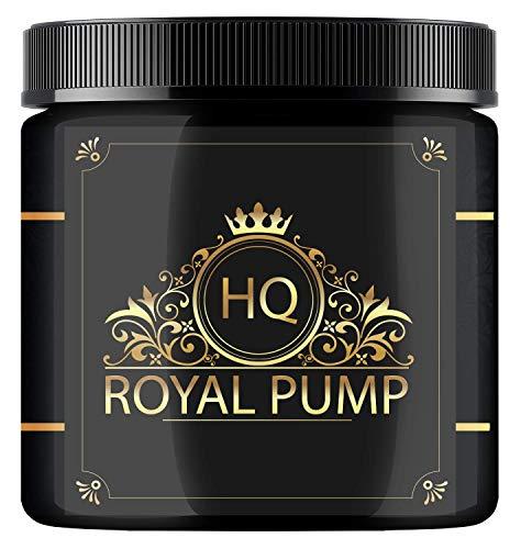 RoyalPump © - UPPERCLASS PRE WORKOUT BOOSTER | Mächtiger Pump & Focus | Goldenes Elixier (Lemongeschmack) | Hardcore Pre Workout Booster mit edlem L-Arginin & L-Citrullin (300g)
