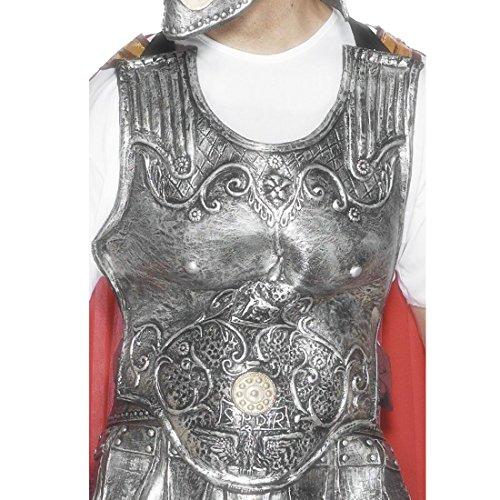 Kostüm Brustplatte (Römische Rüstung silber Brustpanzer Brustplatte Gladiatorenrüstung Römer Gladiator Mittelalter Kostüm)
