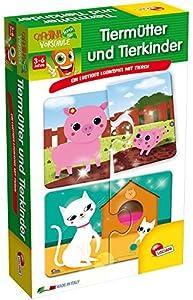 Lisciani 54619-Animales Madres y Animales niños, Memo, Puzzle