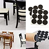 #10: 18 PCS Self Adhesive Rubber Pads For Furniture Floor Scratch Protection (Round Shape) By SpiderJuice