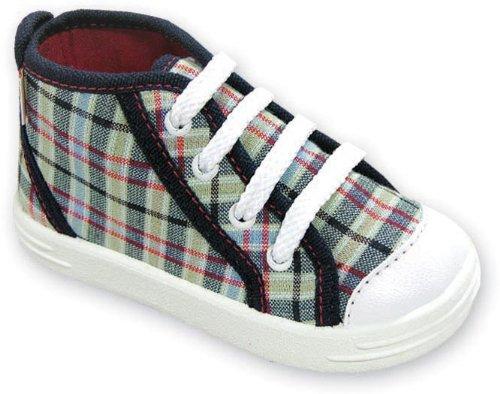 lemigo-chaussons-pour-garcon-gris-dunkelblau-karo-26-eu