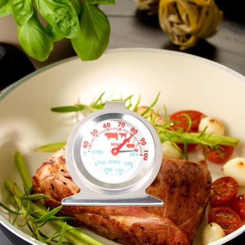 Rosenstein & Söhne 2in1 XL Braten- und Ofen-Thermometer für Gar- & Backofentemperatur - 2