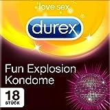 Durex Fun Explosion Kondome – Verschiedene Sorten für aufregende Vielfalt - Verhütung, die Spaß macht – 18er Pack (1 x 18 Stück)