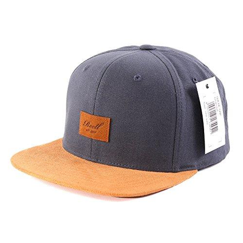 Herren Kappe REELL Suede Cap, Charcoal, One Size -