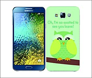 Galaxy Printed 2355 Mean Owl Lime Hard Cover for Samsung A7