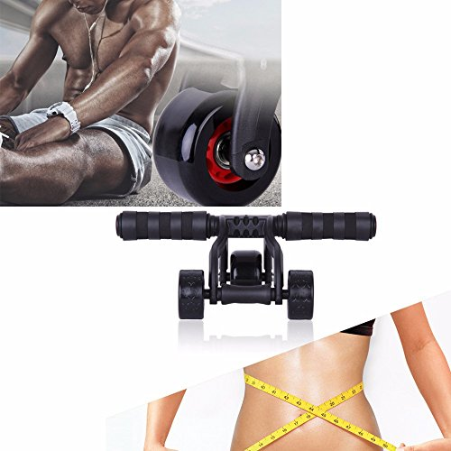 Fitsy Unisex 3-Wheel Ab Roller Toner Exercise Equipment For Abdominal Core Workouts And Belly Fat Reducer