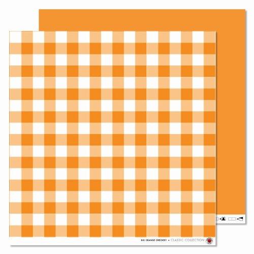 Karen Marie Klip- Scrapbooking-Papier: Karo-Fold, 30,5x30,5 cm, 190g/m2, orange