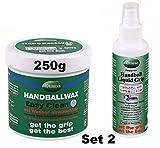 Erima Trimona Easy Clean Handballwax Handballharz & Liquid Grip Spray Set, Handballharz:Set 2