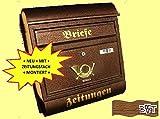 Design Briefkasten R kupfer kupfern in braun Postkasten Post Zeitungsfach Zeitungsrolle Nostalgie