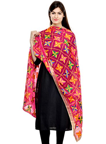 Weavers Villa Women's Stole (DP-BARFI-RANI_Large)