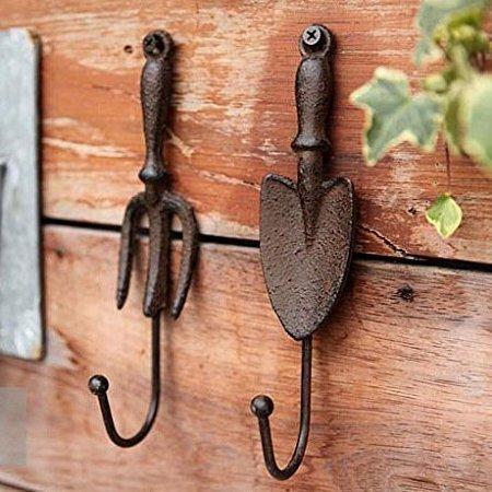 Rétro Coat Hook Iron Spade Hooks Coat Wall Hook Towel Hook Industrial Hook Rustic Coat Rack Hanger A Hook Set of 2