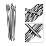 #7: Alcoa Prime Hot 6 pieces Shank 1/4 inch S2 alloy steel 150mm Long Magnetic Hex for Cross Head Screwdriver Bits Set PH1 PH2 Screw Driver