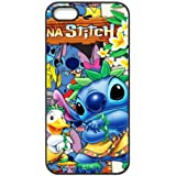 Case for iPhone 5 5s,Black/White Sides,Classic Style Customzie Unique Design iPhone 5s Cases ,TPU Material,Lilo and Stitch