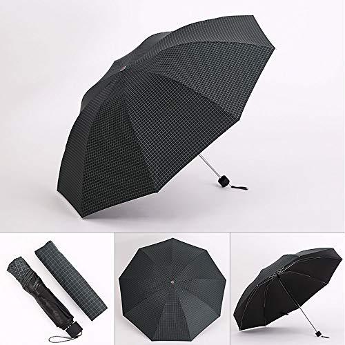 Big seller Paraguas Paraguas Plegable de Goma Negro sombrilla protección Solar sombrilla Hombres y Mujeres (Color : Negro)