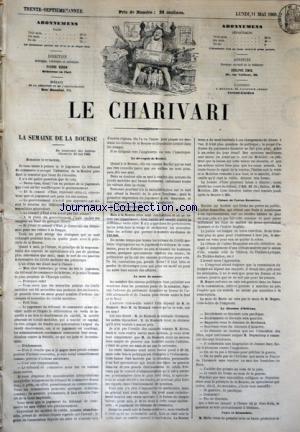 CHARIVARI (LE) du 11/05/1868 - LA SEMAINE DE LA BOURSE