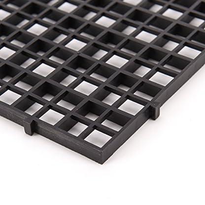 BraveWind 2 Pcs White Grid Divider Tray Egg Crate Aquarium Fish Tank Filter Bottom Isolation Board Pane 6