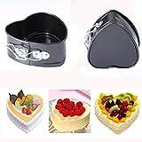 Hunpta Antihaft Liebe Herz Form Kuchen Pan Zinn DIY Kuchenform backen Brot Käseplatte (Silber)