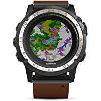 Montre GPS aviation Garmin D2 Charlie Cuir - 010-01733-31