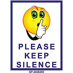 Signageshop Sp-2436205 Flex Please Keep Silence Poster