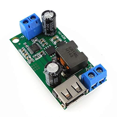 Preisvergleich Produktbild GailMontan HW-638 5V Spannungsstabilisator 9V / 12V / 24V / 36V bis 5V Step-down-Stromrichter (grün)
