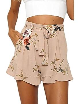 Luoluoluo Shorts Stampa Tropicale Donna,Gonna Donna Sexy, Pantaloni Corti Estivi, Donne Design Sciolto Pantaloncini...