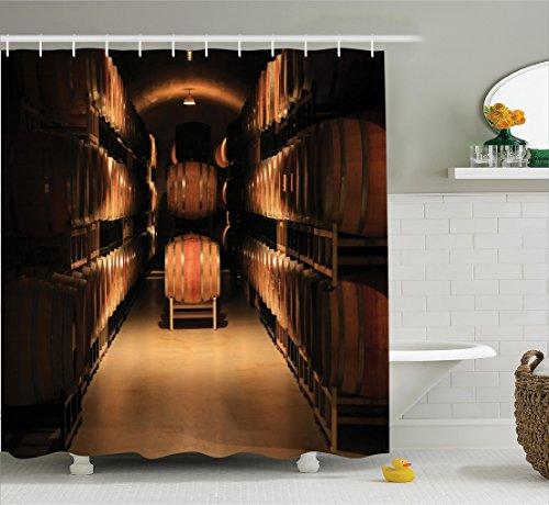 bodega-decor-cortina-de-ducha-set-por-ambesonne-vino-barril-apilados-en-bodega-anos-old-fermentacion