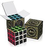 Aiduy 3x3x3 Cubo di Etiqueta de Fibra de Carbono para Rompecabezas Mágicos Suaves di Cubo