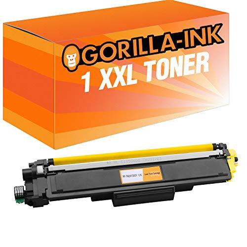 Gorilla-Ink 1 Toner XXL Yellow für Brother TN-243 TN-247 DCP-L3510CDW DCP-L3550CDW HL-L3210CW HL-L3230CDW HL-L3270CDW MFC-L3710CW MFC-L3730CDN MFC-L3750CDW MFC-L3770CDW inklusive Chip! - 3550 Serie Yellow Toner