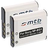 2x Akku NP-BG1, FG1 für Sony Cyber-Shot DSC-H3 H7 H9...T20 T25...W30 W35 W40...+weitere, siehe Liste
