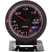 60m m LED Turbo Gauge medidor de impulso, auto aumento de presión de vacío Shell de presión para Auto Racing Car 0-200 Kpa