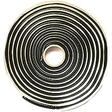 Adhesivo butilo caucho pegamento Faro sellador Retrofit, 9,5mm x 4,57m, negro