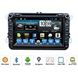 ATOTO Quadcore Android VW Specific Car Stereo,8in HD Touchscreen Entertainment - Indash Multimedia Head Unit w/ FM RDS Radio Tuner, DVD Playback, WIFI, Bluetooth Handsfree, GPS Navigation, and more!