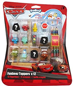 D'Arpèje - Cars 2 - CDIC030 - Figurine - Funbeez Toppers - Blister 12