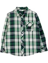Beebay Boys White/Green Check Shirt (Green Check)