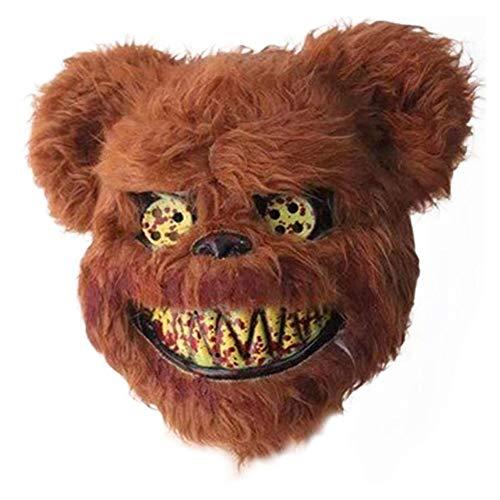 OYWNF Lustige schreckliche bär Gesichtsmaske Horror Halloween