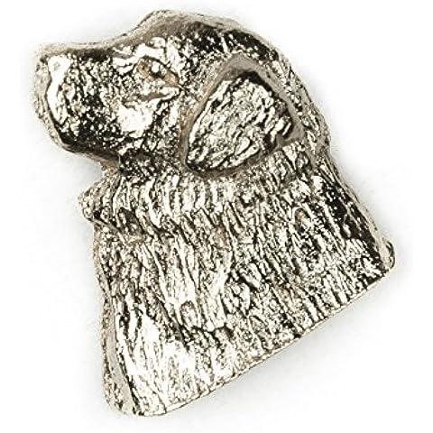 Dogo del Tíbet Hecho en Reino Unido Artístico Perro Pin Insignia Colección