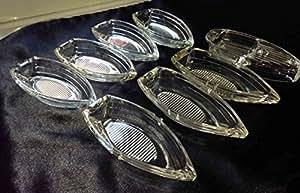 Cendrier en verre Vintage Bateau-Bonbonnière Décoration Mariage Fête