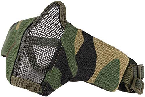 Wmchiwan Maske Halbe Gesichtsmaske Stahl Netz Maske Paintball Maske für Airsaoft Außen