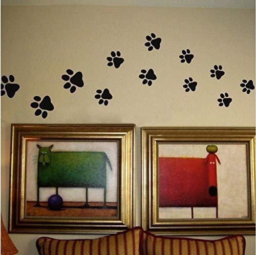 Preisvergleich Produktbild Yirenfeng Pfotenabdruck Wandaufkleber-20 Pfote Fahrt Wand Drucke Aufkleber Home Art Decor Cat Hundefutter Dish Zimmer Haus Schüssel Label